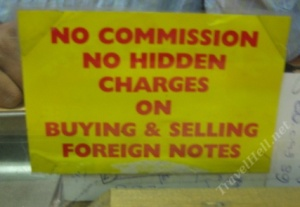 currency exchange: no commission